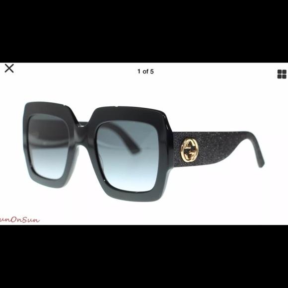 44cd116c6721 Gucci Accessories | Gg0102 Black Womens Oversized Sunglasses | Poshmark